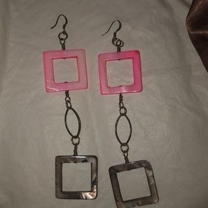 3/20$ ALL JEWELLERY dangle earrings 2 squares